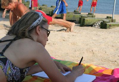 writing on the beach400
