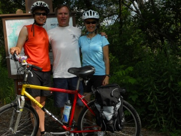 G, Fred and Kath Solstice Ride 2010